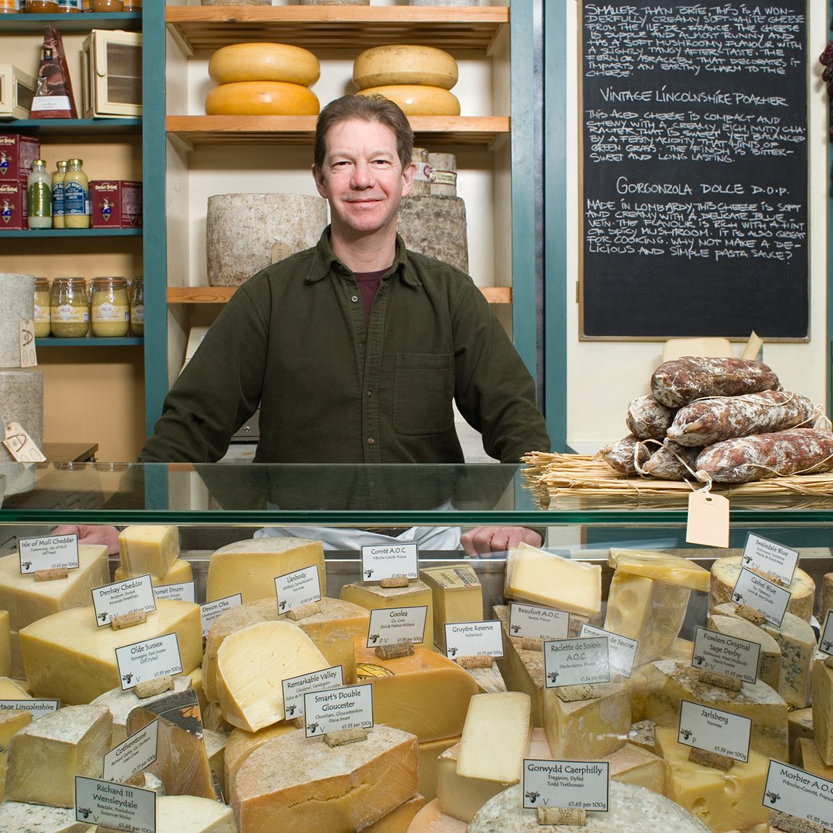 Portrait of a cheesemonger
