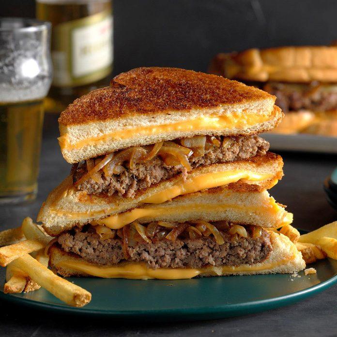 Grilled Cheese Bun Burgers