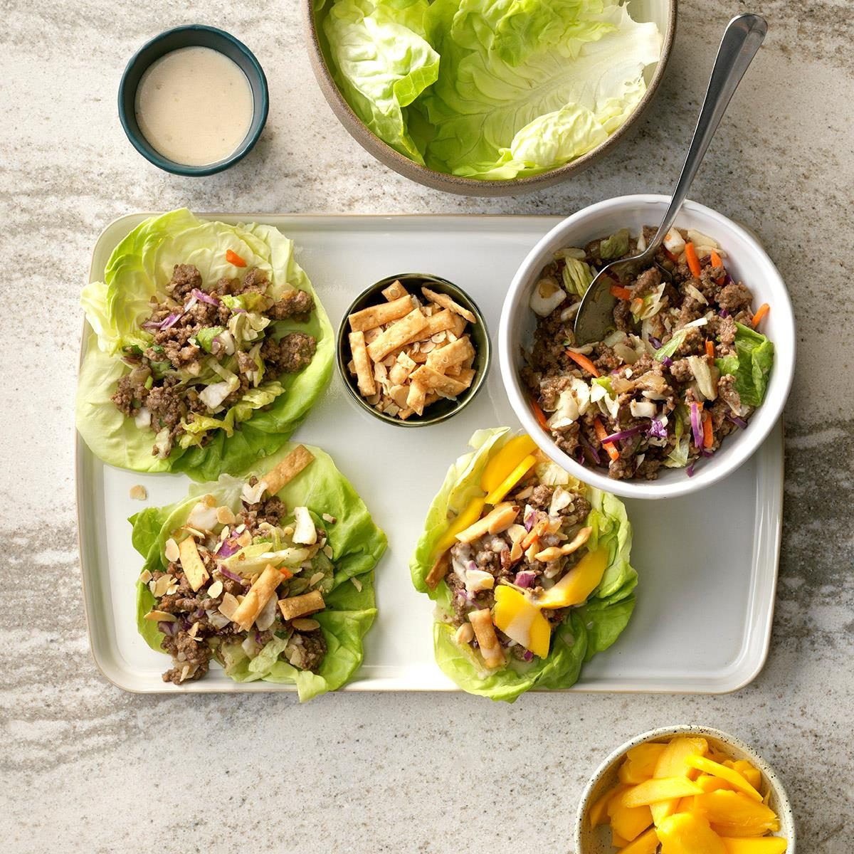 Indian-Spiced Beefy Lettuce Wraps