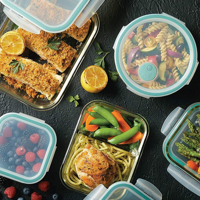 LOCK & LOCK LLG455S5A Purely Better Glass Food Storage Container Set, 10 Piece, Clear