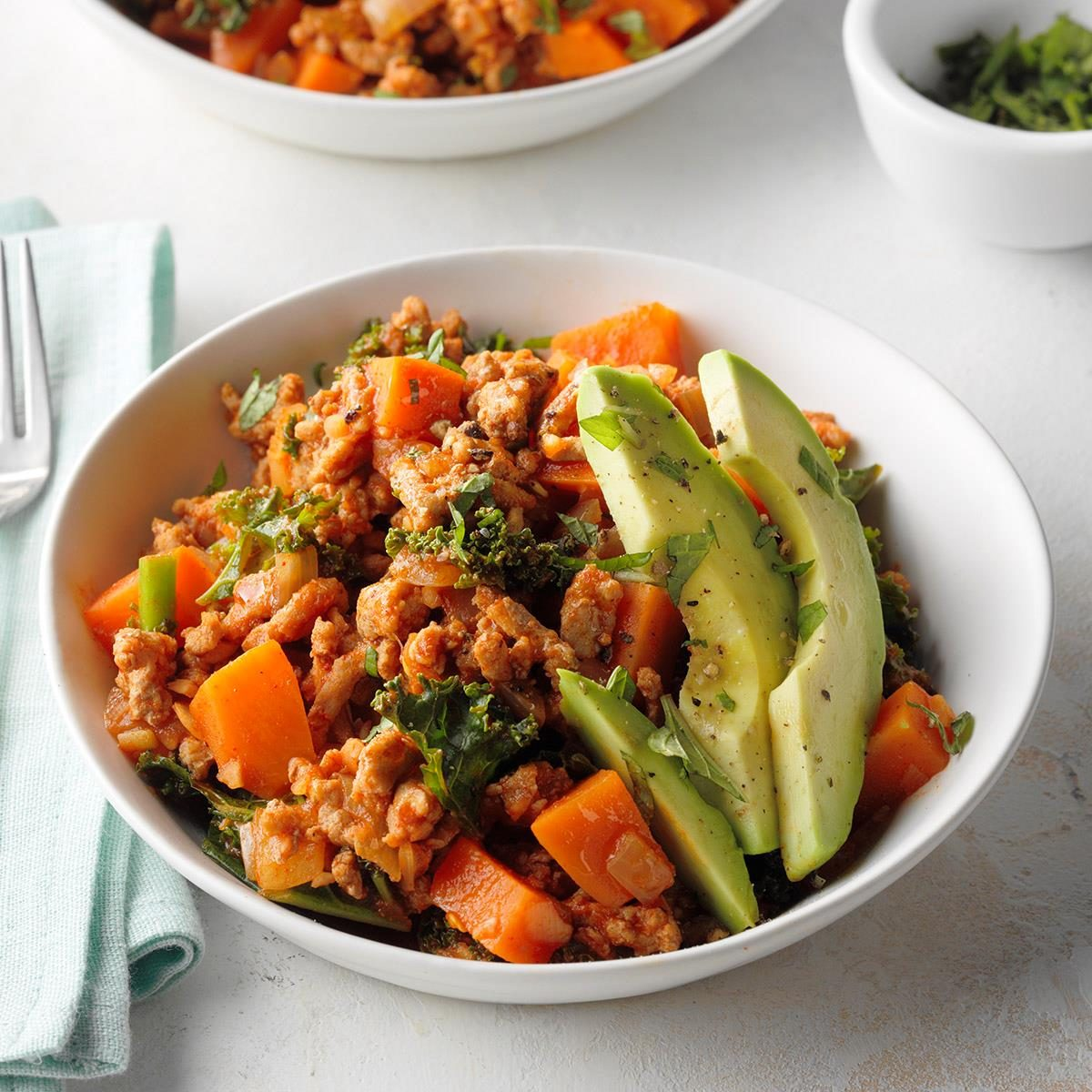 Thursday: One-Dish Ground Turkey Sweet Potato Skillet
