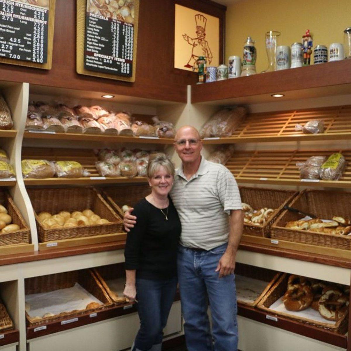 "John & Joanie, 2 of the owners of ""Hess Bakery & Deli"""