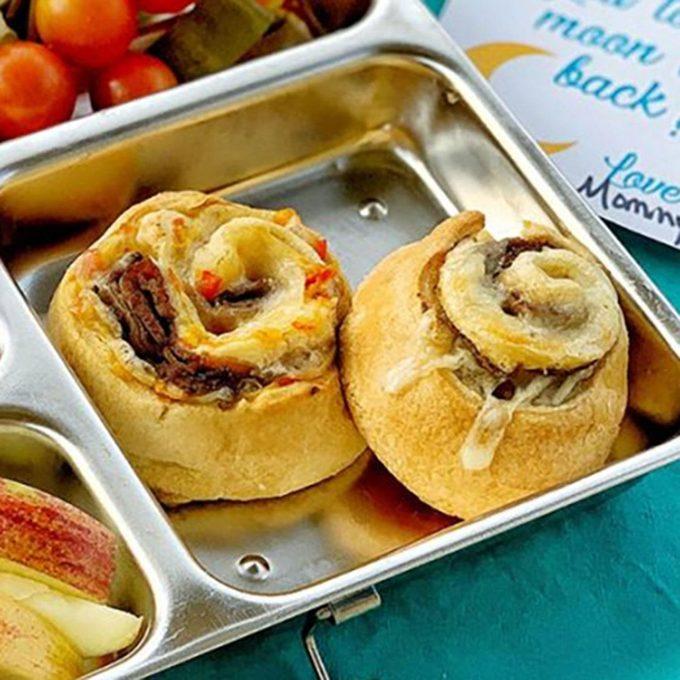 High School Age: Cheesy Roast Beef Pinwheels