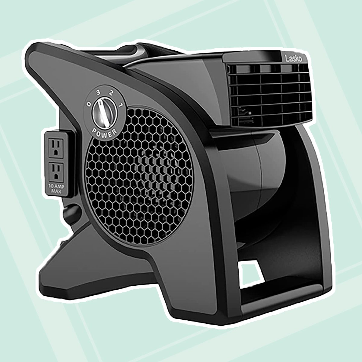 Lasko High Velocity Pro-Performance Pivoting Utility Fan for Cooling, Ventilating, Exhausting and Drying at Home, Job Site and Work Shop, Black Grey U15617