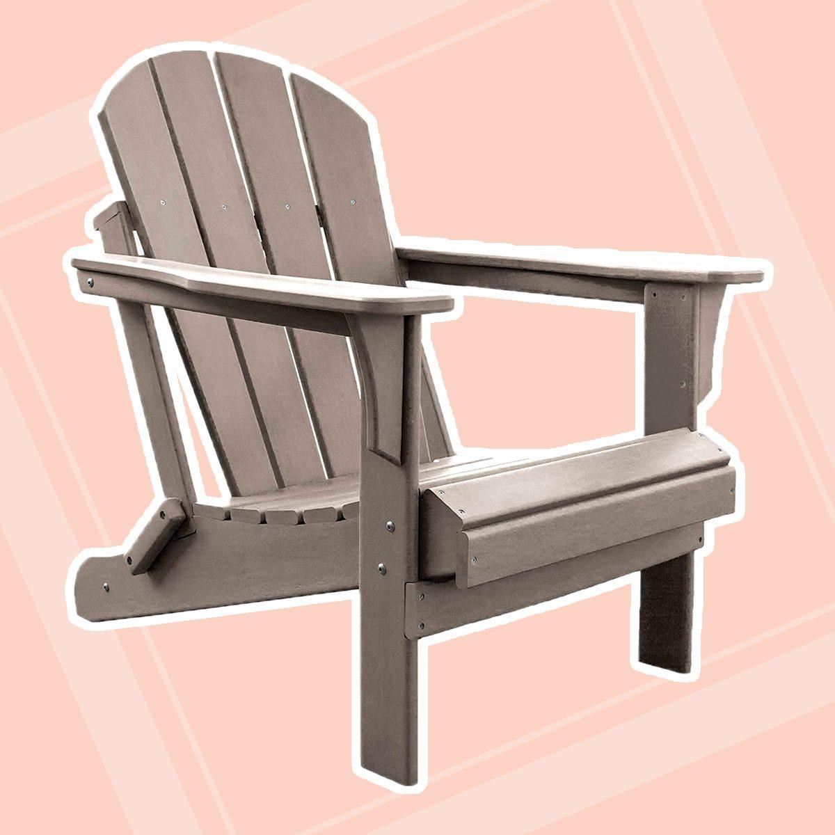 Panama Jack PJO-4001-TAUPE Adirondack Chair, Taupe
