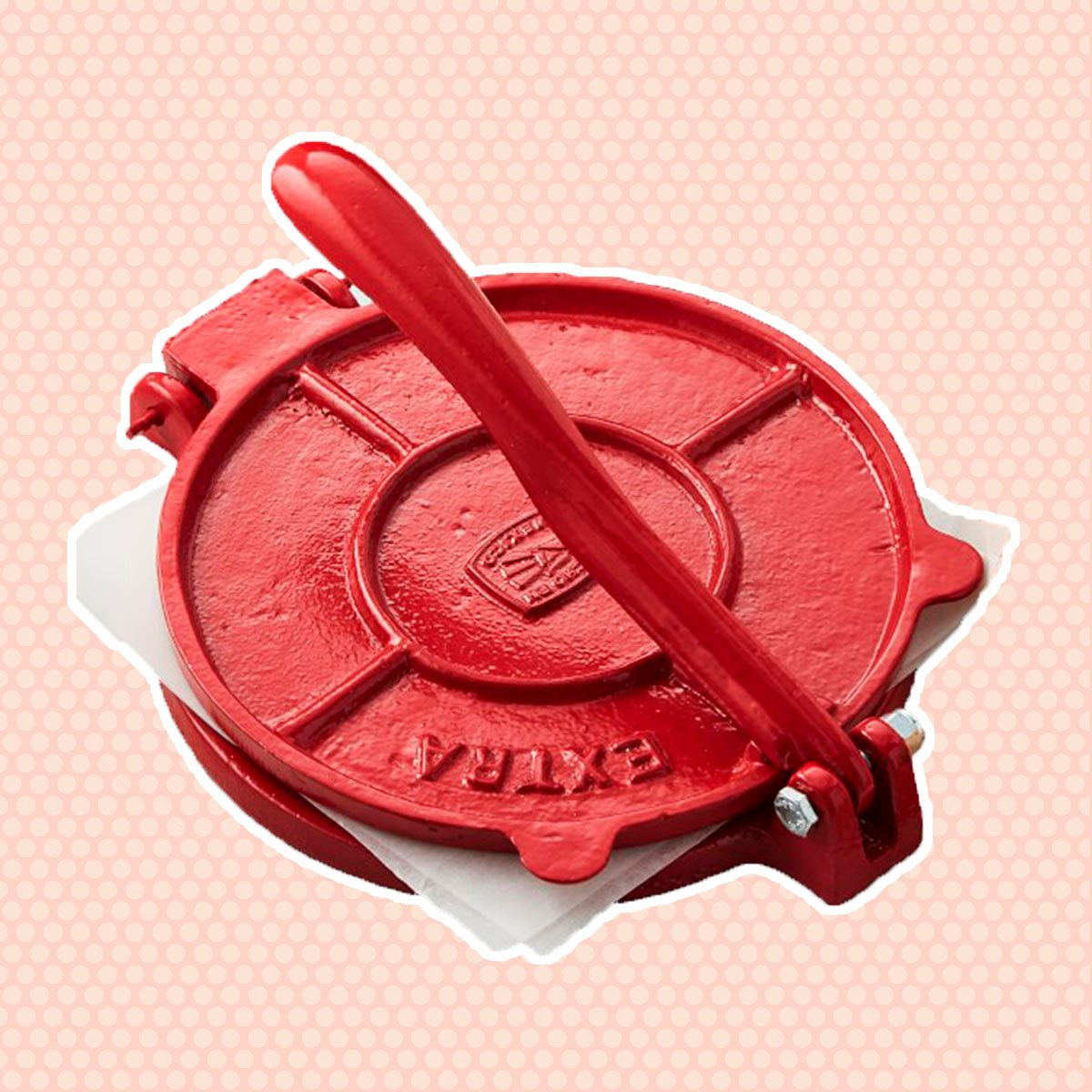 Cast-Iron Tortilla Press, Red