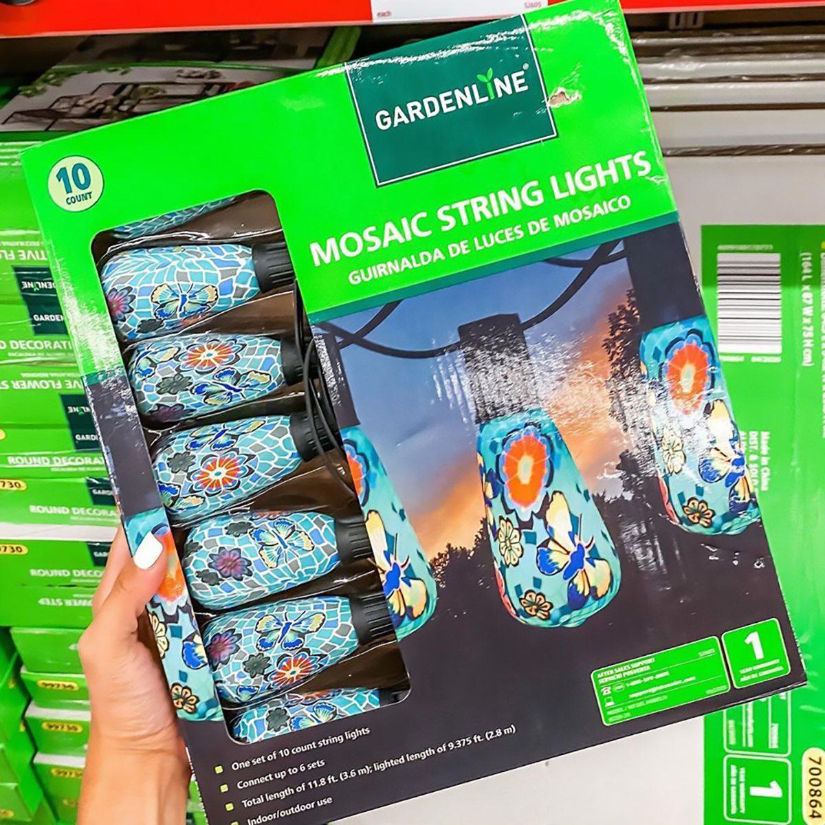 Aldi mosaic string lights crop