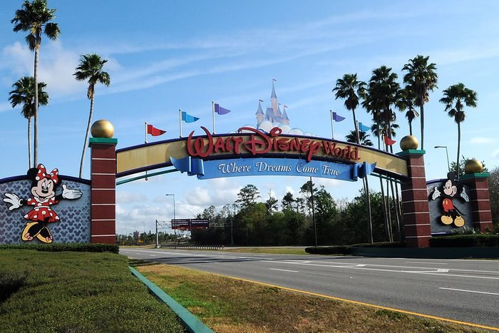 ORLANDO, UNITED STATES - 2020/03/16: The entrance to Disney World is deserted on the first day of closure as theme parks in the Orlando area suspend operations for two weeks in an effort to curb the spread of the coronavirus (COVID-19). As of March 16, 2020 there were 155 Florida-related coronavirus cases. (Photo by Paul Hennessy/SOPA Images/LightRocket via Getty Images)
