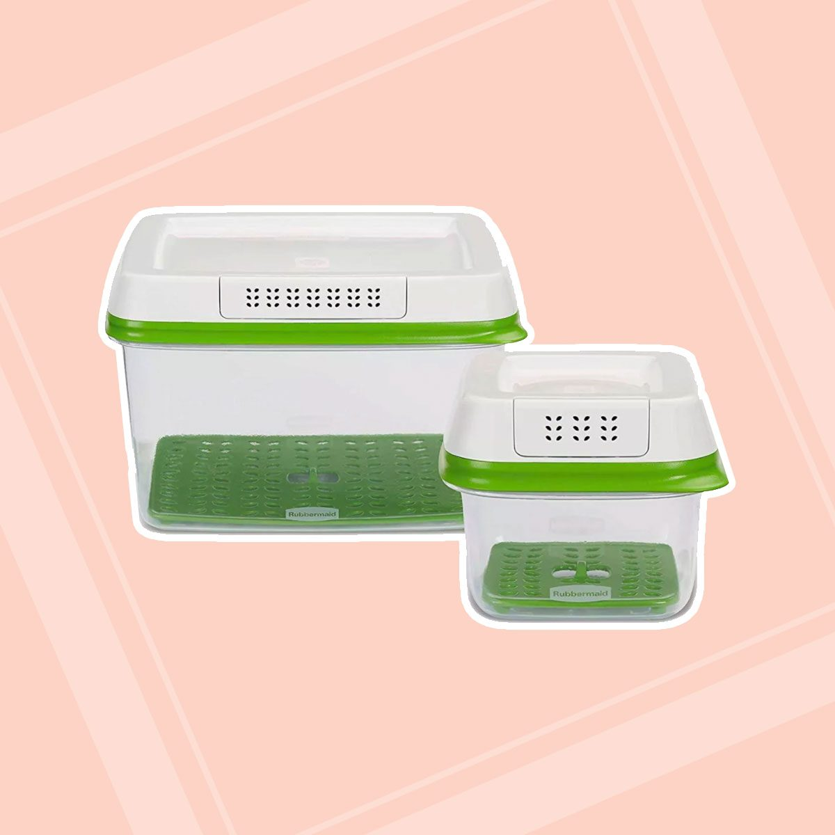 Rubbermaid 2pk Plastic FreshWorks Food Storage Container