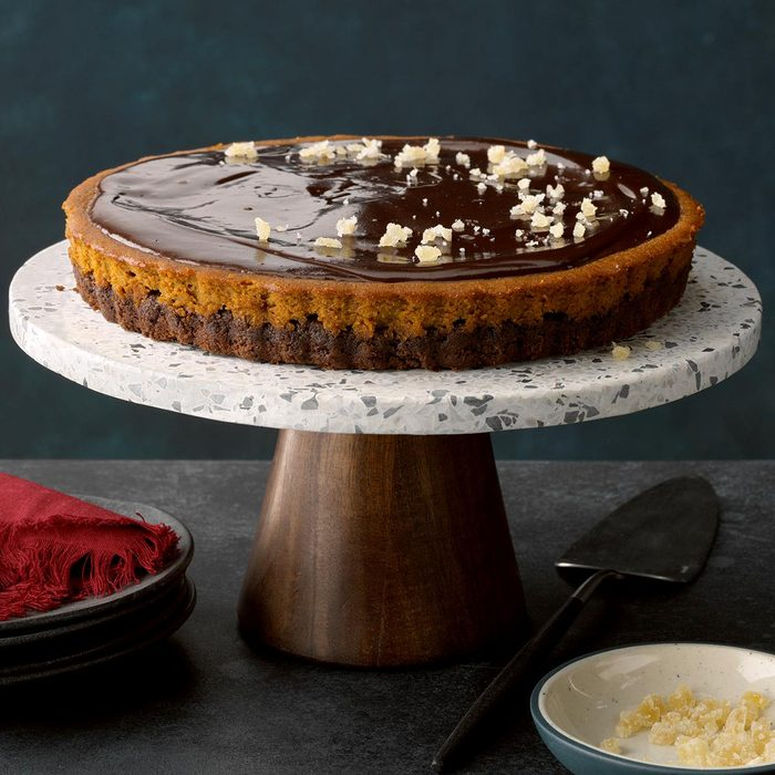Chocolate Ganache Pumpkin Tart
