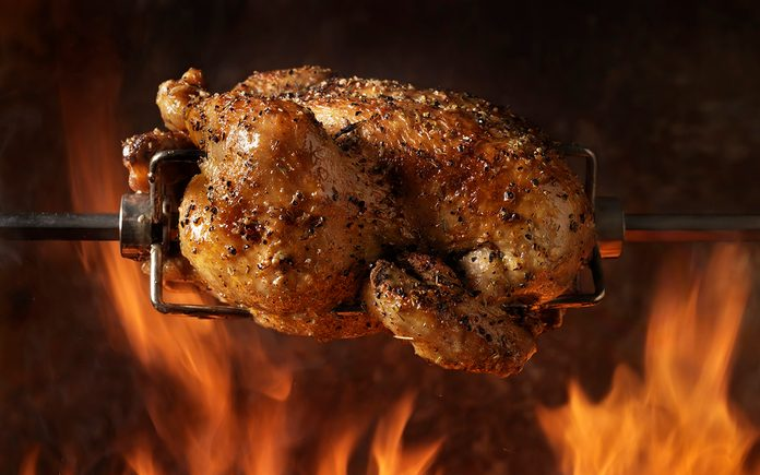 Roast Chicken on the BBQ - Photographed on a Hasselblad H3D11-39 megapixel Camera System