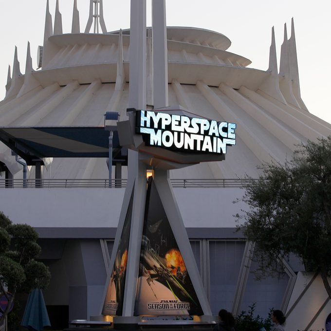ANAHEIM, CALIF. -- THURSDAY, NOVEMBER 12, 2015: Exterior view of the updated Hyperspace Mountain at Disneyland during the media preview of Star Wars Season of The Force on November 12, 2015 in Anaheim, California.(Photo by Allen J. Schaben/Los Angeles Times via Getty Images)