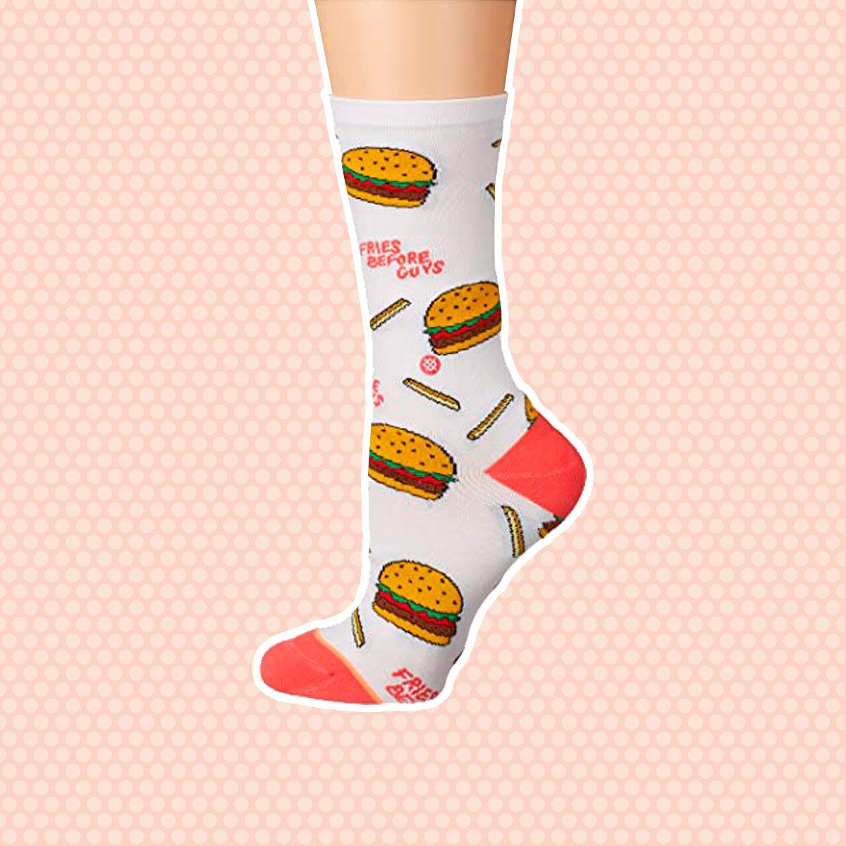 Fries B4 Guys Crew Socks