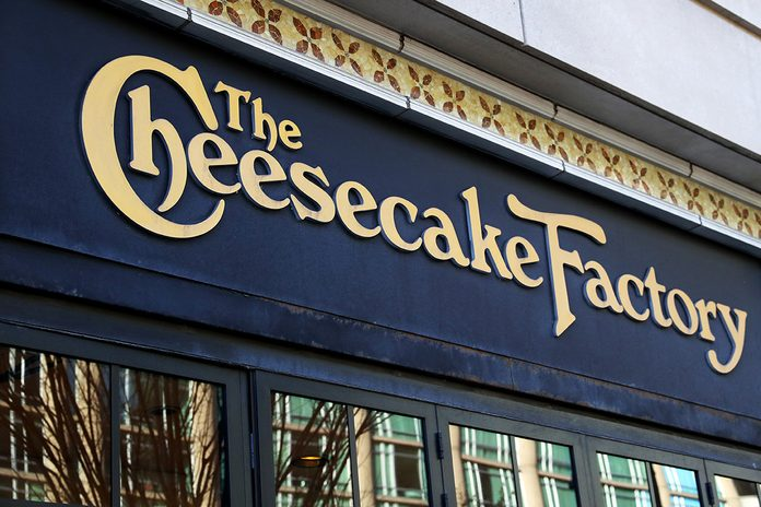 BOSTON, MASSACHUSETTS - MARCH 26: A view of the Cheesecake Factory on March 26, 2020 in Boston, Massachusetts. The restaurant chain has announced that it will not be able to pay its rent starting April 1 due to how the coronavirus (COVID-19) pandemic has affected its business. (Photo by Maddie Meyer/Getty Images)