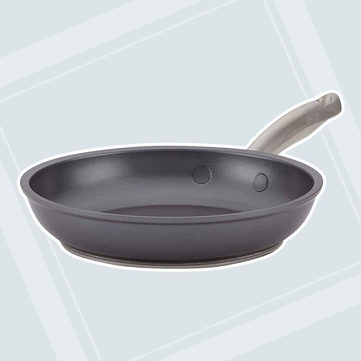 """Anolon 8"""" Forged Hard Anodized Skillet, 8"""", Moonstone"""