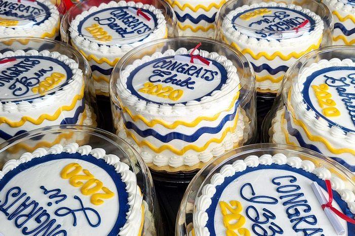 Graduation cakes from Hanisch Bakery