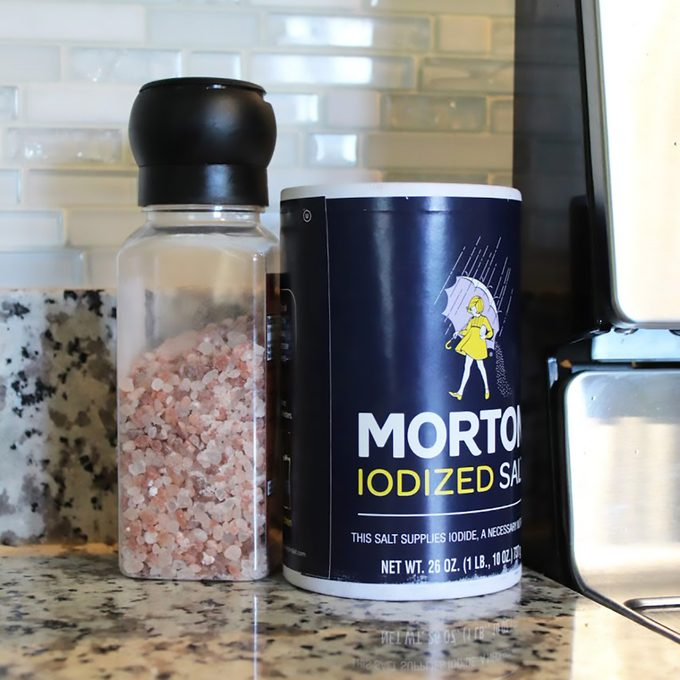 Salt containers on countertop