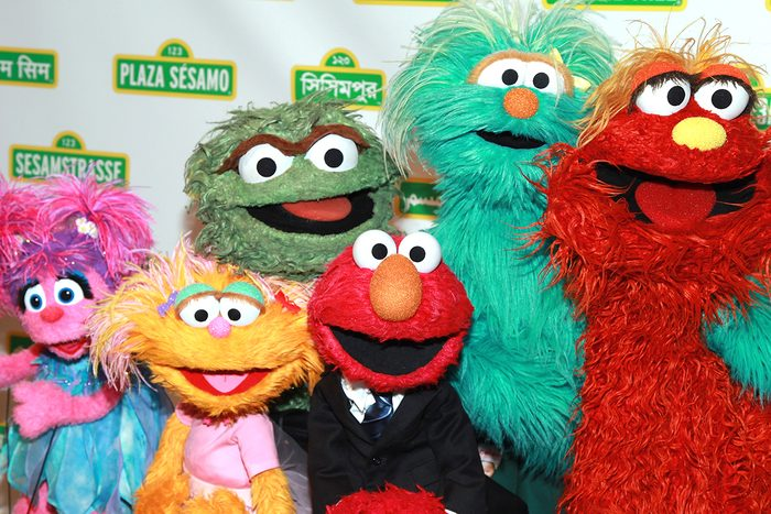 NEW YORK, NY - MAY 30: Abby Cadabby, Zoe, Oscar the Grouch, Elmo, Rosita, and Murray Monster attend the 10th annual Sesame Workshop Benefit gala at Cipriani 42nd Street on May 30, 2012 in New York City. (Photo by Taylor Hill/FilmMagic)