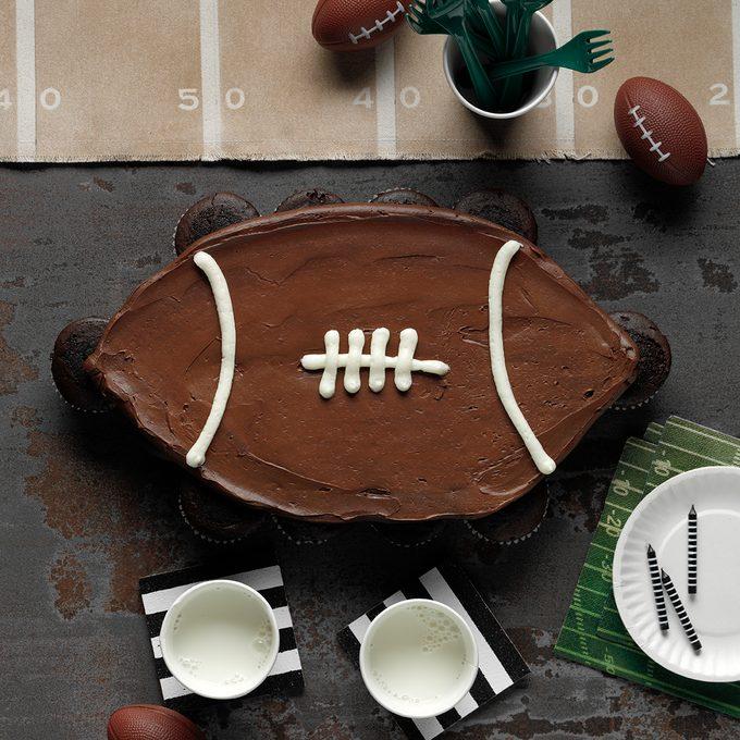 256548 Football Cupcake Cake