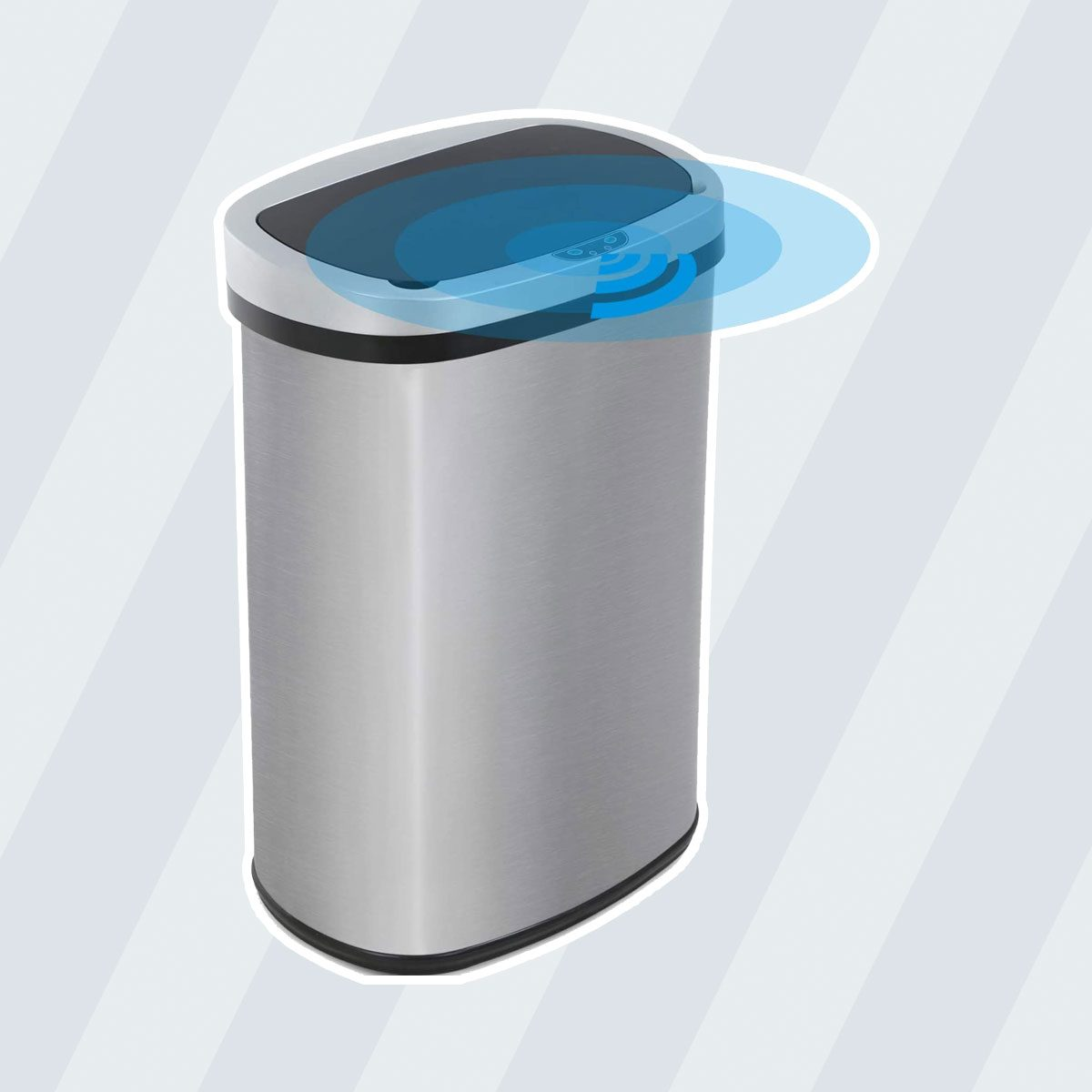 Vnewone Kitchen Trash Can Garbage 13 Gallon Waste Bin for Home Office Bedroom Stainless Steel Automatic Touch Free High-Capacity, 50 Liter