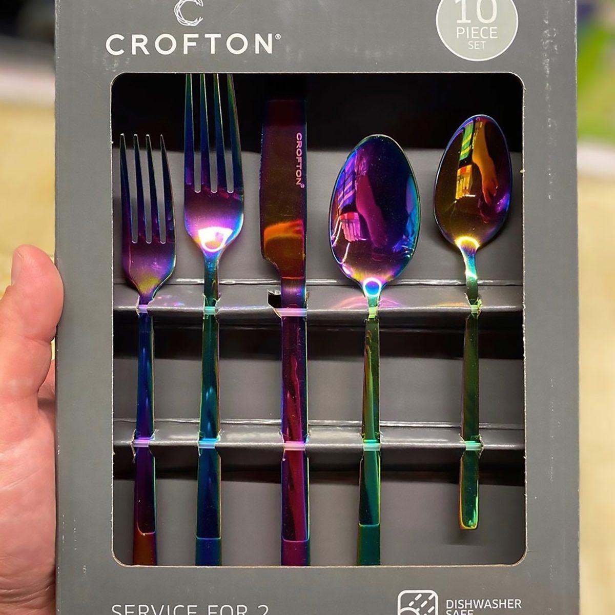 Crofton iridescent silverware from Aldi