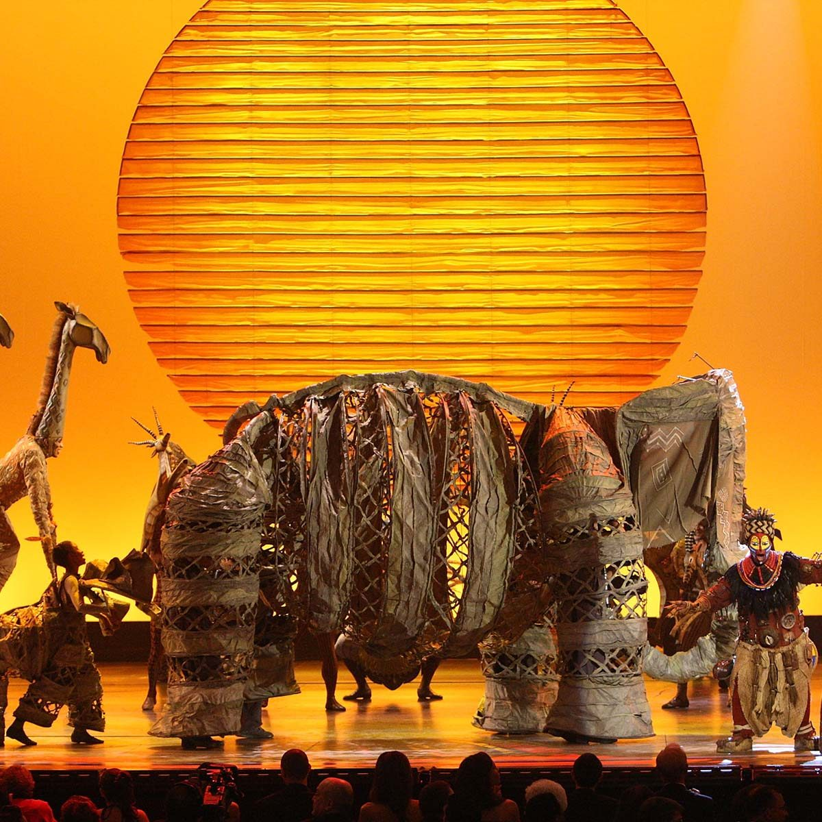 "NEW YORK - JUNE 15: Cast of ""The Lion King"" perform on stage during the 62nd Annual Tony Awards at Radio City Music Hall on June 15, 2008 in New York City. (Photo by Theo Wargo/WireImage) *** Local Caption ***"