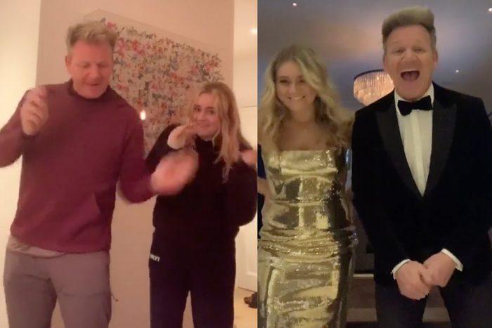 Gordon Ramsey dancing with daughter Tilly on Tik Tok
