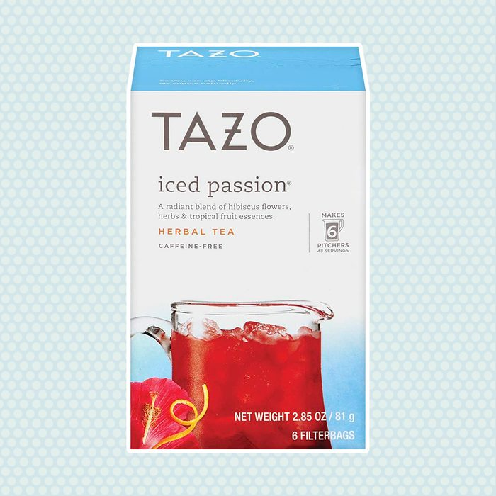 Tazo Herbal Tea Iced Tea Bags For a Refreshing Cold Beverage Iced Passion Caffeine-Free, 6 count, Pack of 4, Packaging may Vary