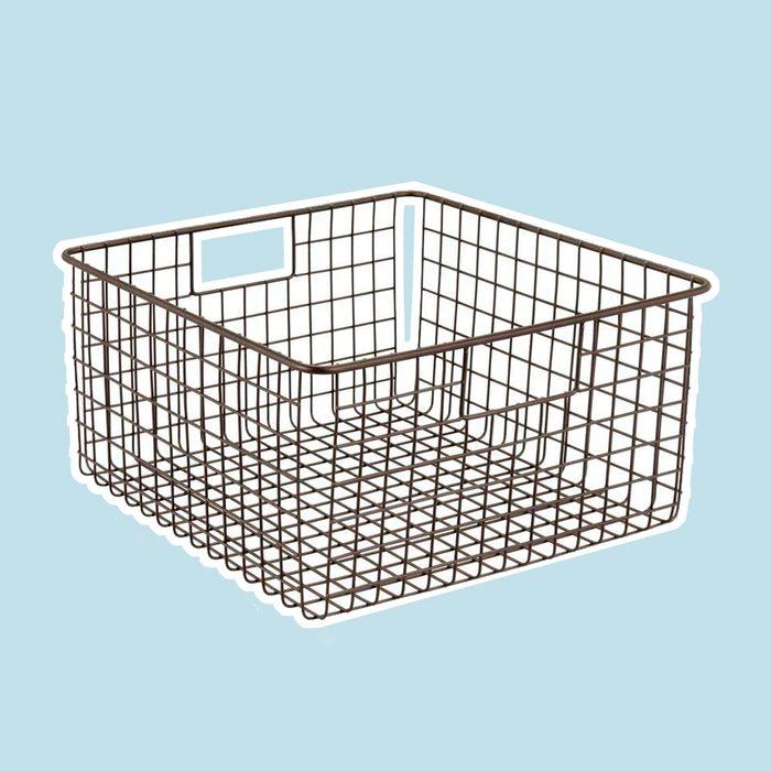 mDesign Farmhouse Decor Metal Wire Food Storage Organizer
