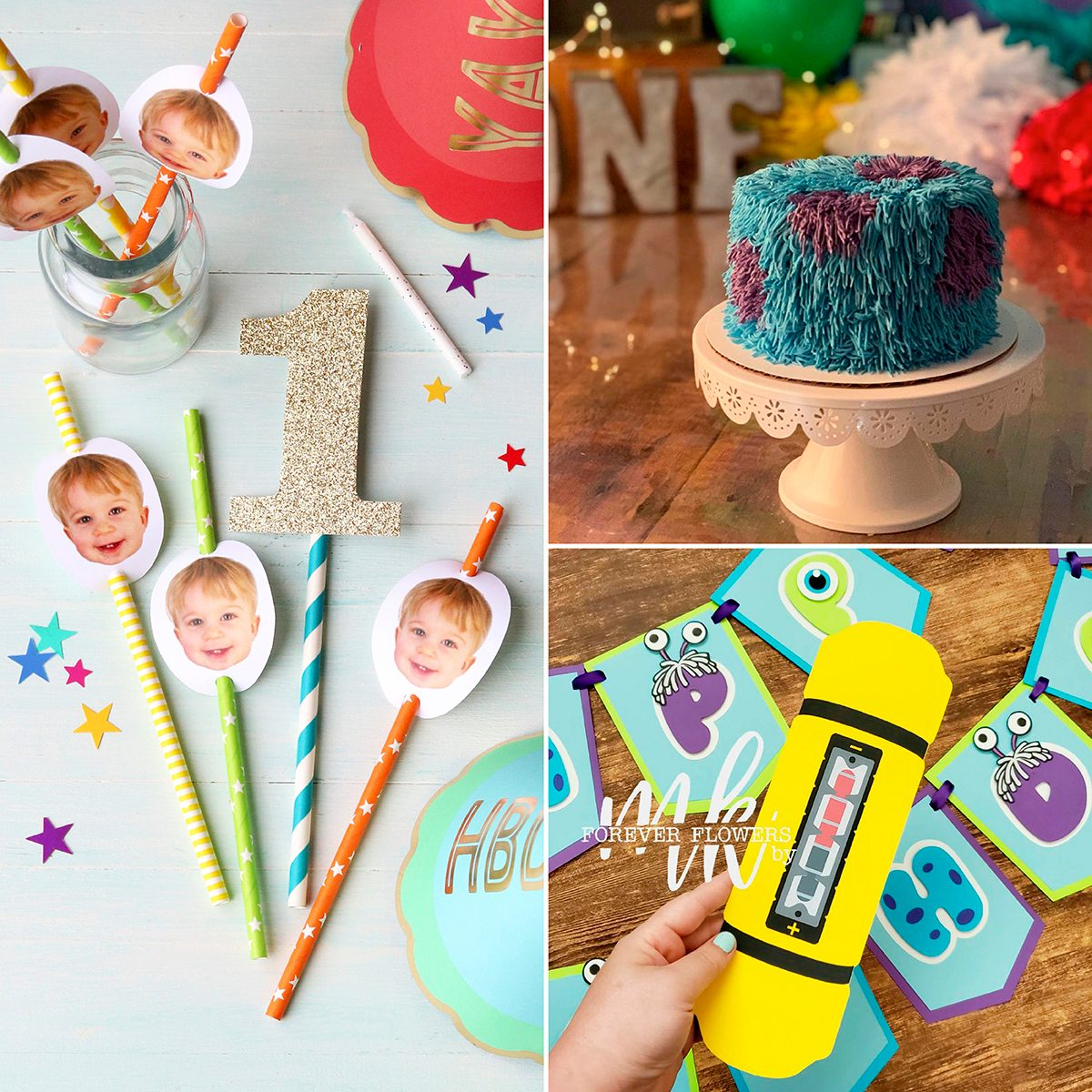 Monsters Inc. first birthday party ideas