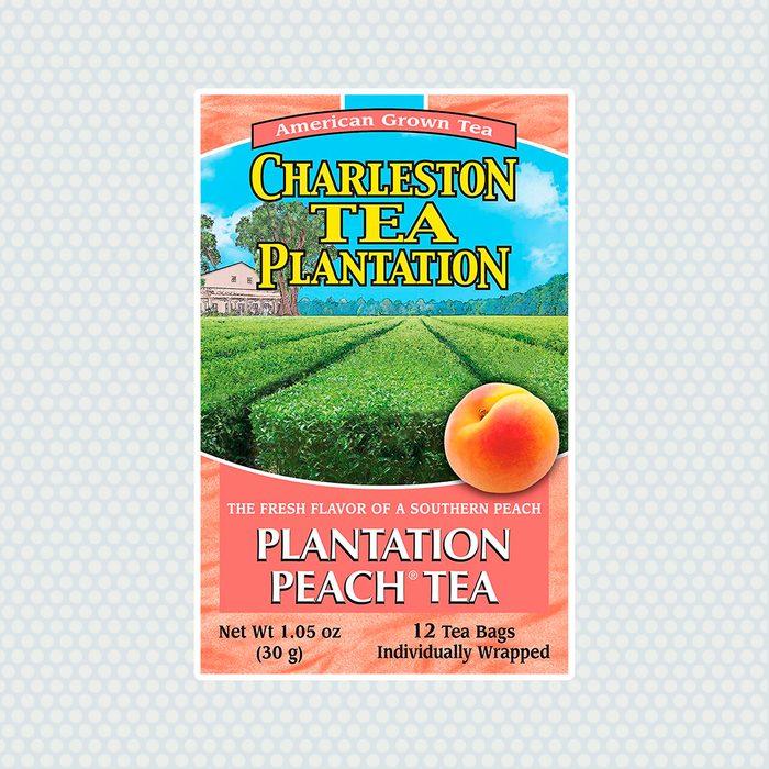Charleston Tea Garden Pyramid Teabags, Plantation Peach, 12 Count