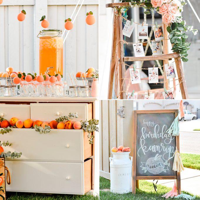 Peaches first birthday party idea