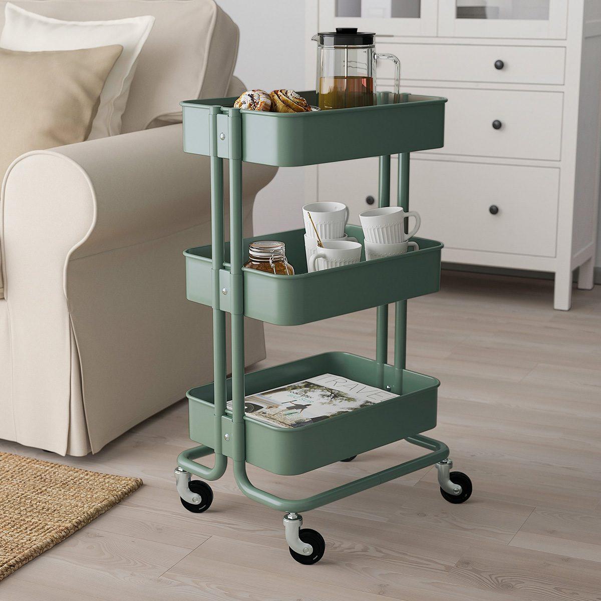 RSKOG Utility cart, gray-green