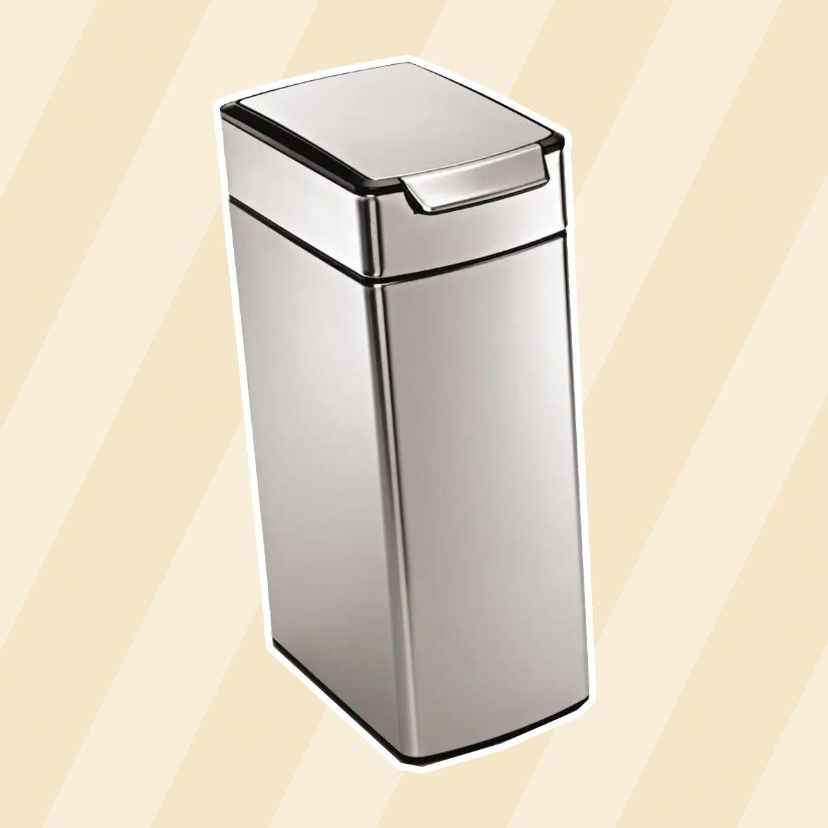 simplehuman 10.5-Gallon Slim Touch Bar Trash Can
