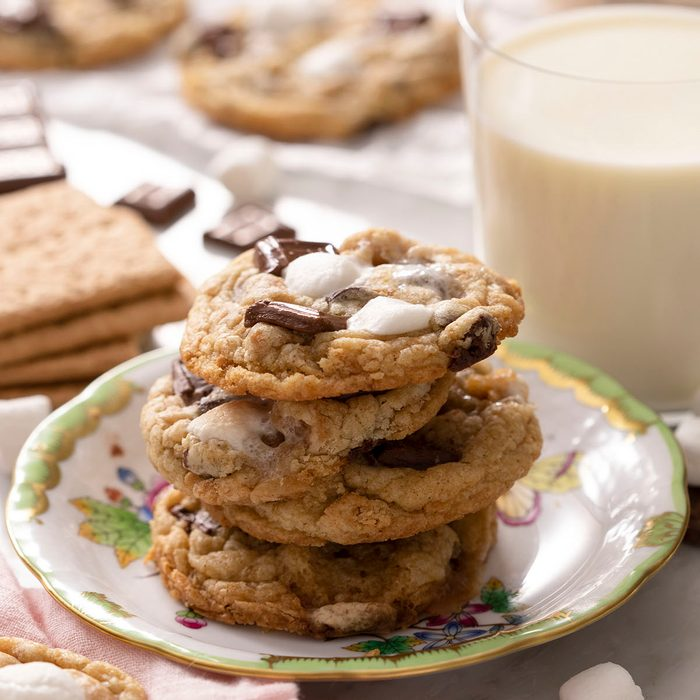 S'mores Cookies on plate.