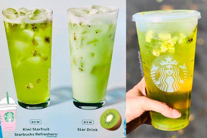Starbucks New Kiwi starfruit refresher