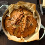 Dutch-Oven Raisin Walnut Bread