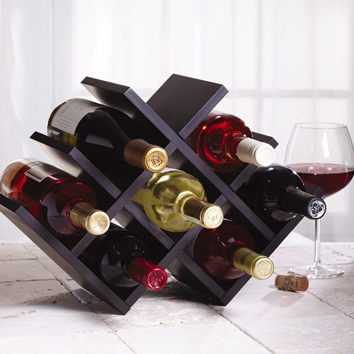 Kamenstein Free-Standing Wooden Wine Rack
