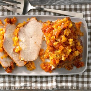 Pressure-Cooker Spicy Pork Roast With Apricots