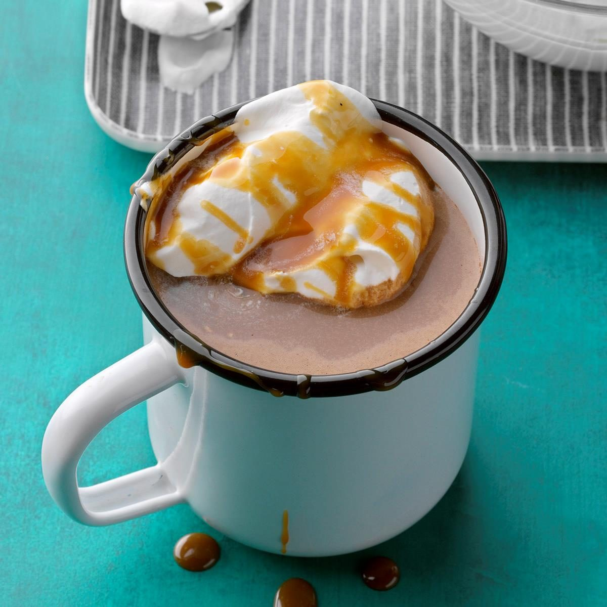 High School Age: Salted Caramel and Banana Hot Chocolate