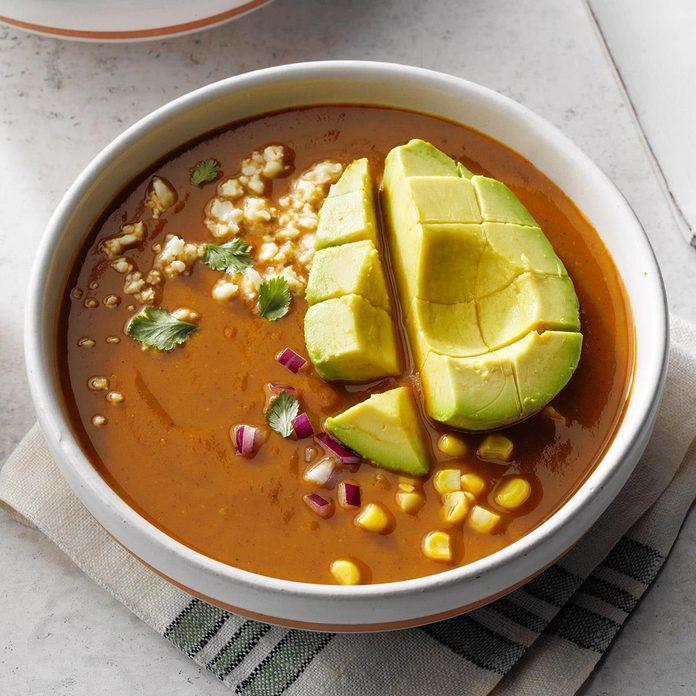 Slow-Cooker Sweet Potato Chocolate Mole Soup
