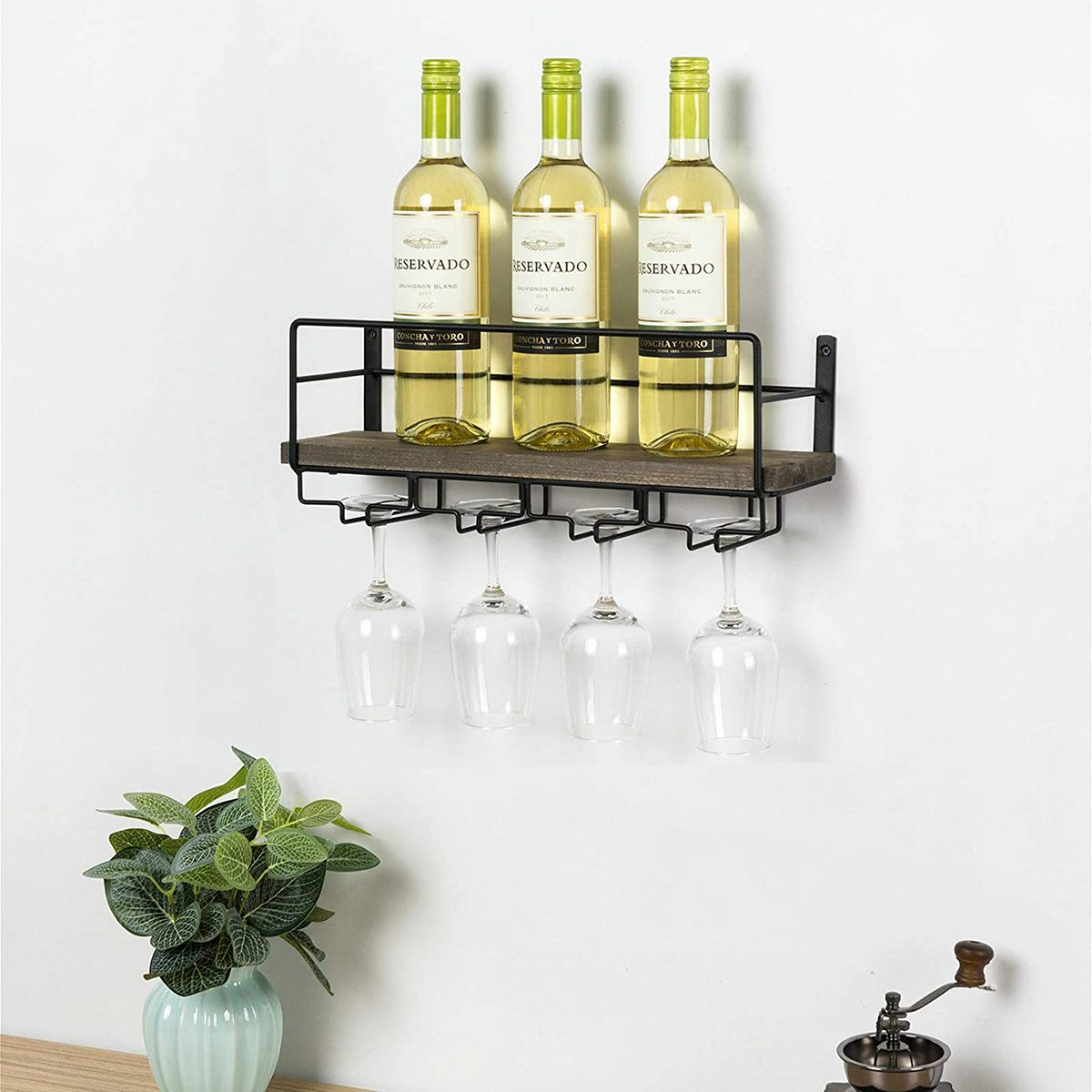Sodoku Rustic Wood Wine Rack