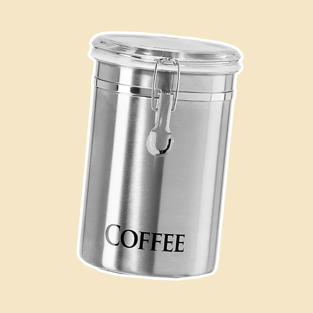 "Oggi™ 62 fl. oz. Stainless Steel ""Coffee"" Canister"
