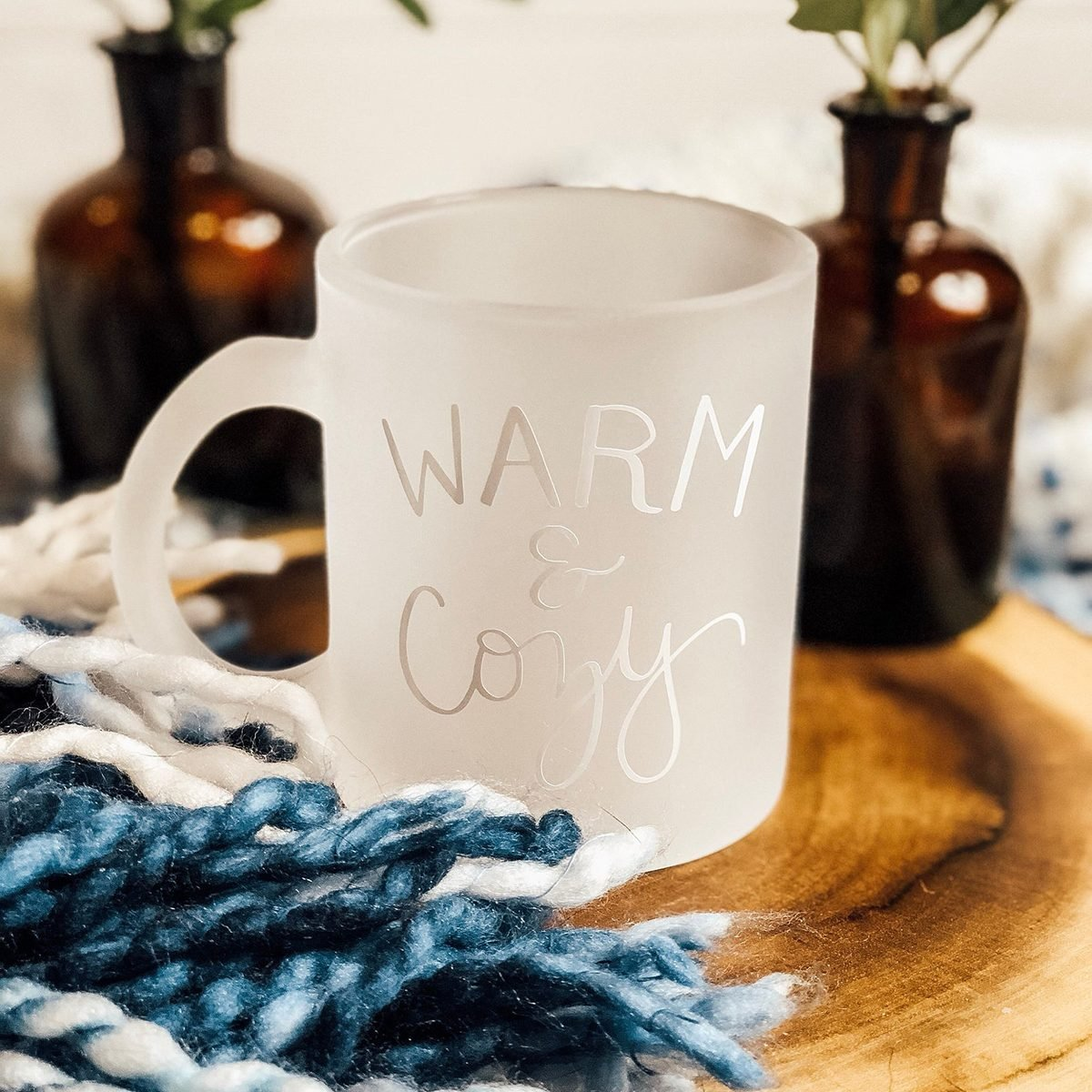 Warm & Cozy Mug | Frosted Mug | Warm and Cozy