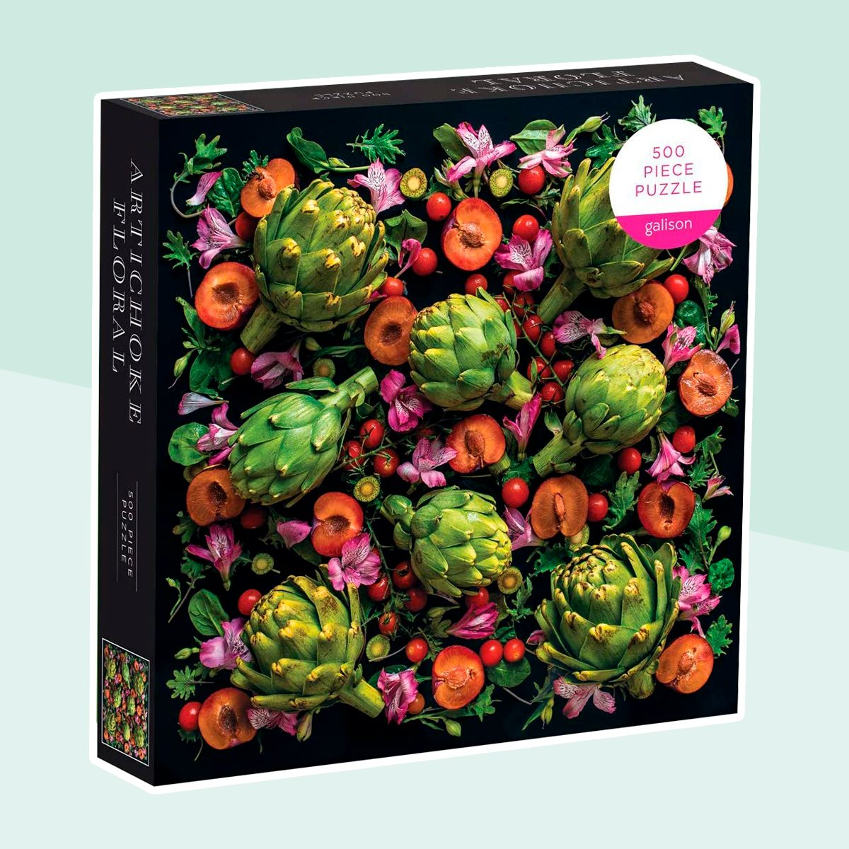 Galison 500 Piece Artichoke Floral Jigsaw Puzzle for Adults and Families, Challenging Plant Puzzle with Floral Artichoke Theme