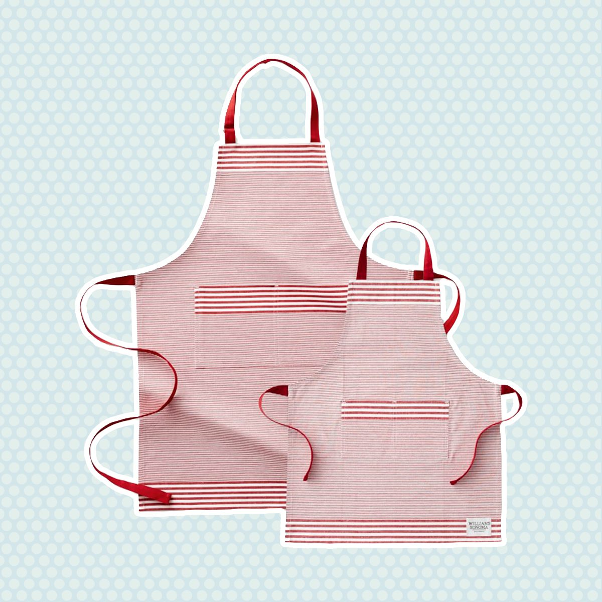 Williams Sonoma Bay Stripe Adult & Kid Aprons