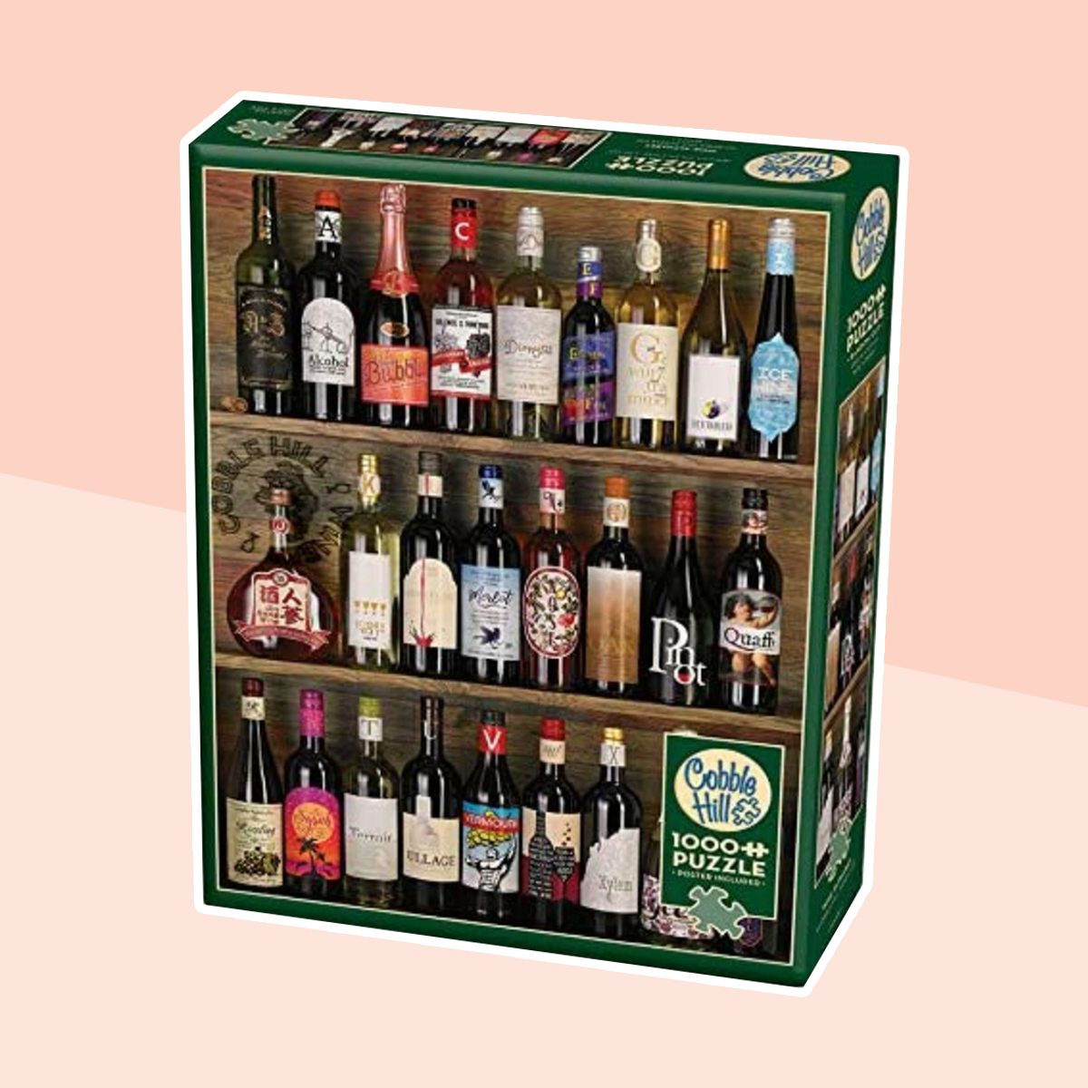 Cobblehill 80029 1000 pc Wine Alphabet Puzzle, Various