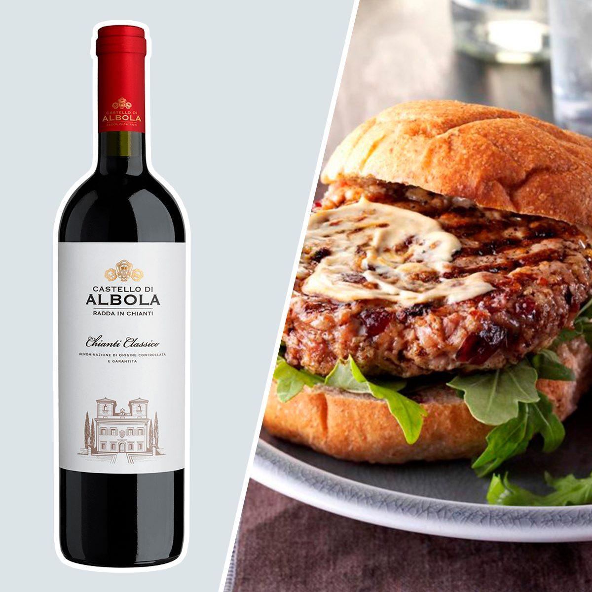 Castello d'Albola Chianti Classico Italian Red and burger