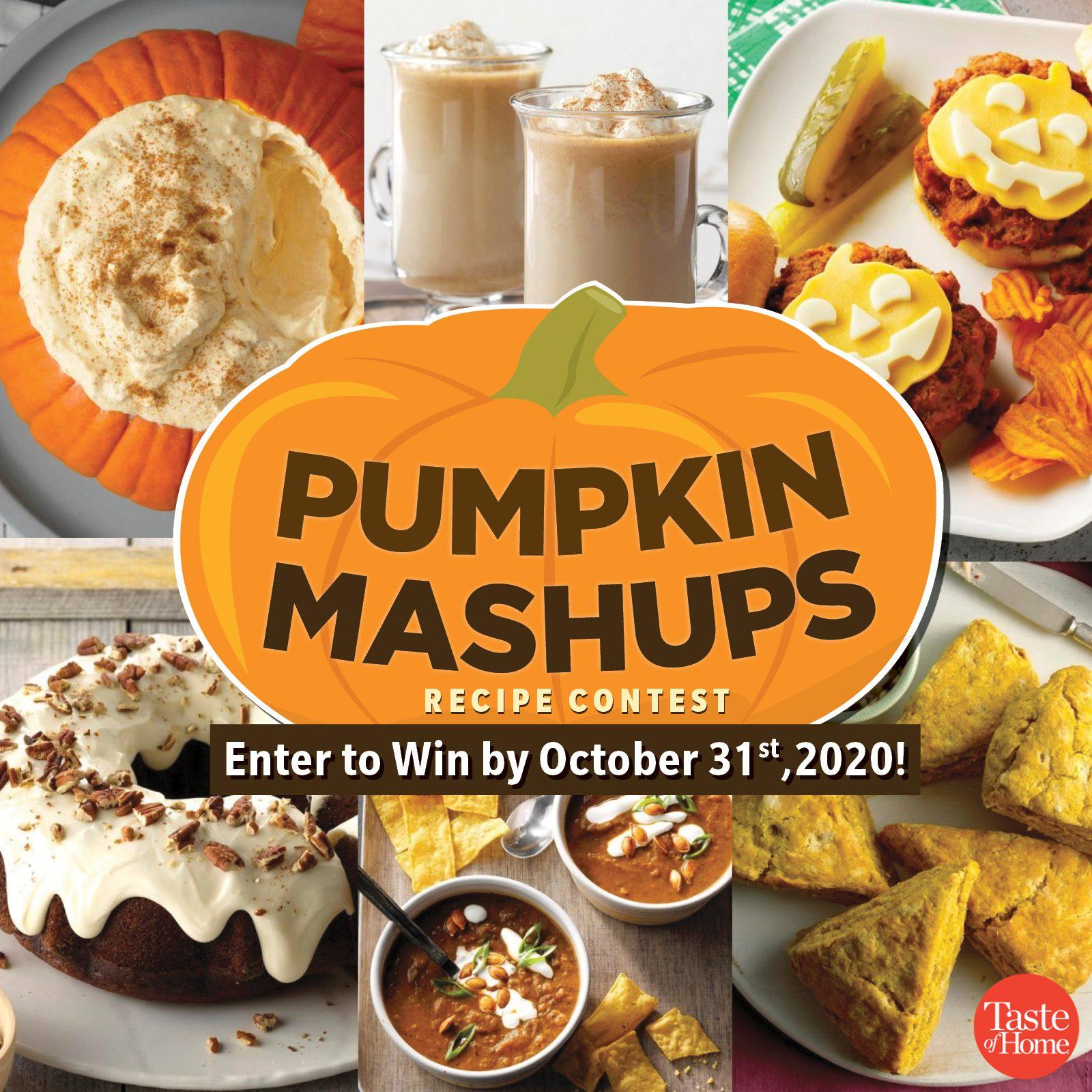 taste of home recipe contest Pumpkin Mashups