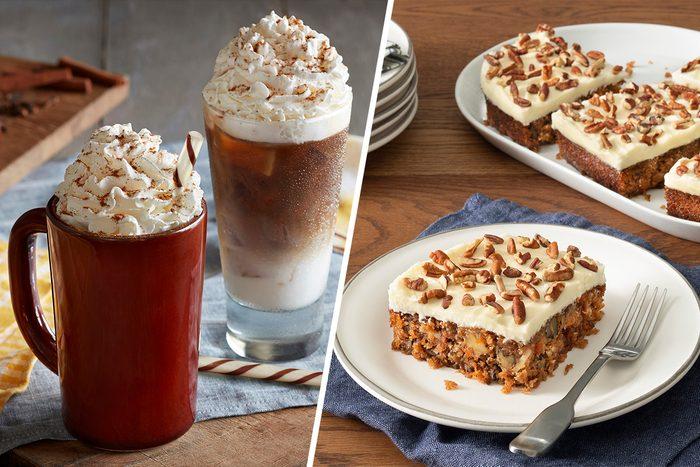 Cracker Barrel New Carrot Cake and Pumpkin Pie Latte